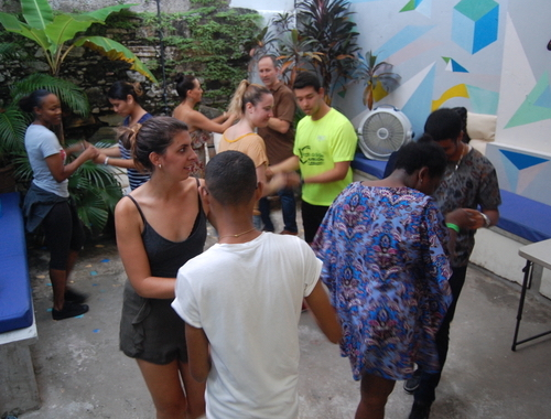 Rosie Bell travel writer portfolio - Panama city - Salsa Lessons at Casco Antiguo Spanish school - Pty life