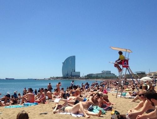 Rosie Bell travel writer portfolio - Barceloneta Beaches in Barcelona - Club Elsewhere Travel Magazine