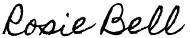 Rosie Bell Travel Writer signature